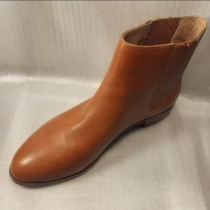 100%GENUINE LEATHER ANKLE CHELSEA BOOT wmn8